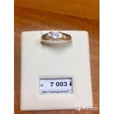 Золотое кольцо с камнем,новое(4)