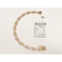 Изящный золотой браслет украшенный фианитами(4)